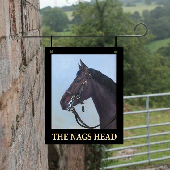 Picture of Personalised Nags Head Hanging  Bar Sign