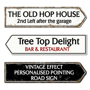 Picture of Vintage Style Street Road Direction Pointing Sign