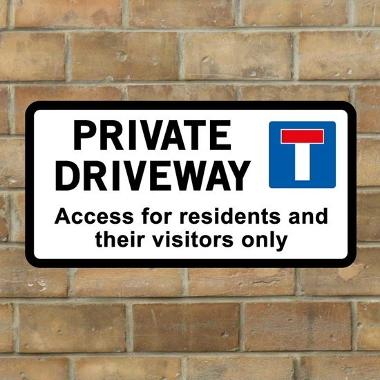 Picture of PRIVATE Drive Wall Sign -  No Access Wall Sign