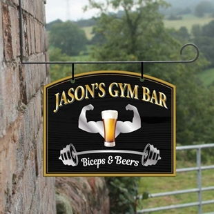 Picture of Personalised Gym Bar Design Hanging Sign