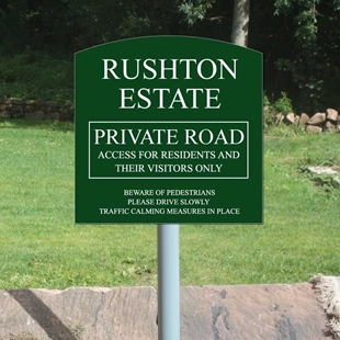 Picture of Arched Top Sign on Post