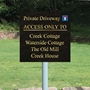 Picture of Slate Stone Effect Sign on Post