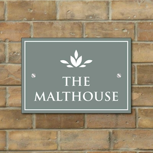 Picture of Rectangular Cottage House Sign