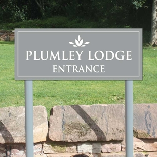 Picture of Entrance Sign on Posts