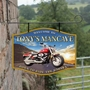 Picture of Motorbike Garage  Personalised Home Bar Hanging  Sign