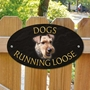 Picture of Welsh Terrier Dogs Running Loose Sign