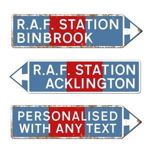 Picture of RAF Pointing Road Sign