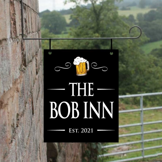 Picture of Personalised Hanging  Bar Sign with beer picture