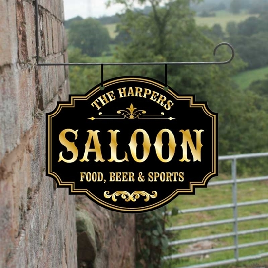 Picture of Personalised Saloon Cowboy Hanging Sign