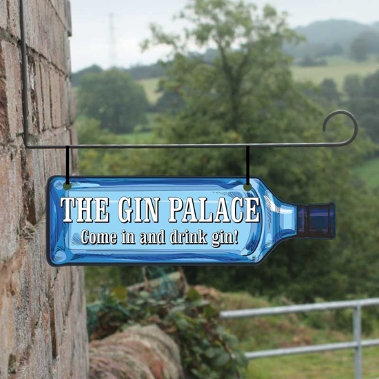 Picture of Personalised Gin Bottle Hanging Sign
