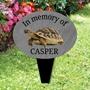 Picture of Pet Tortoise memorial plaque