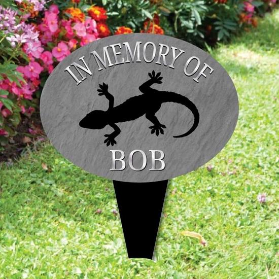 Picture of Pet Gecko memorial plaque