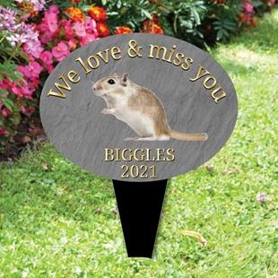 Picture of Personalised Gerbil memorial plaque
