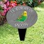 Picture of Pet Budgie memorial plaque