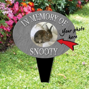 Picture of Personalised Pet memorial plaque with photo