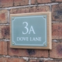 Picture of Rectangular Cottage House Sign on Oak Plinth