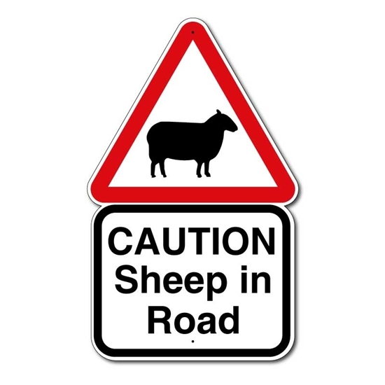 Picture of Beware of Sheep Farm Sign