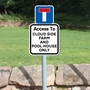 Picture of Personalised Private Road Sign No Entry On Post