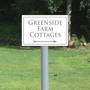 Picture of Personalised House Sign On Post